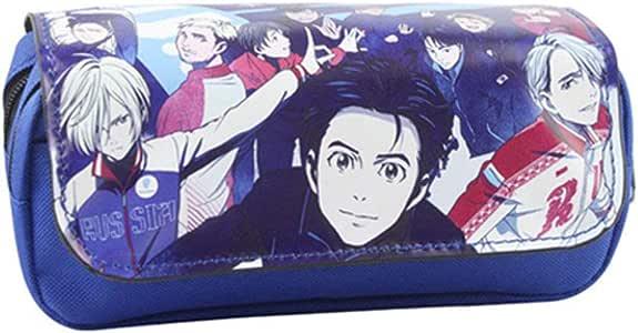 ALTcompluser Anime YURI on Ice - Estuche escolar para estudiantes (lona, organizador de papel), color Diseño 1: Amazon.es: Oficina y papelería