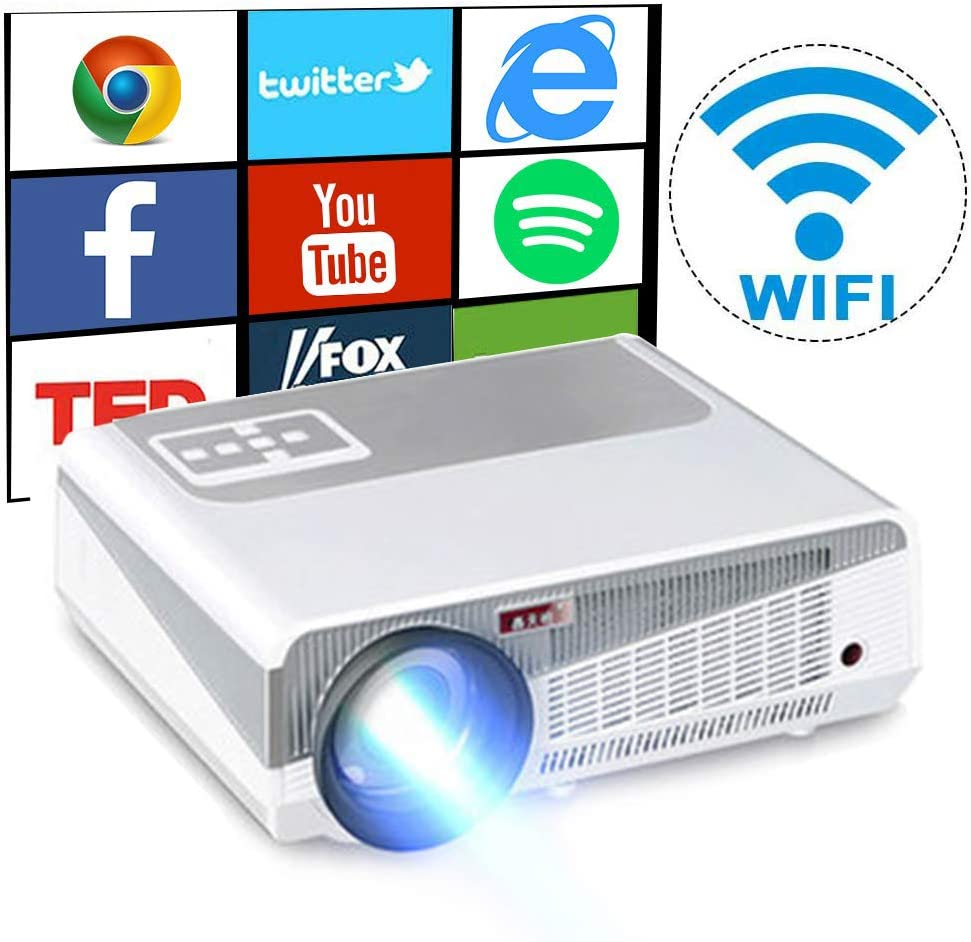 Proyector Androide WiFi 1280 * 800p Video proyector Soporte 1080p ...