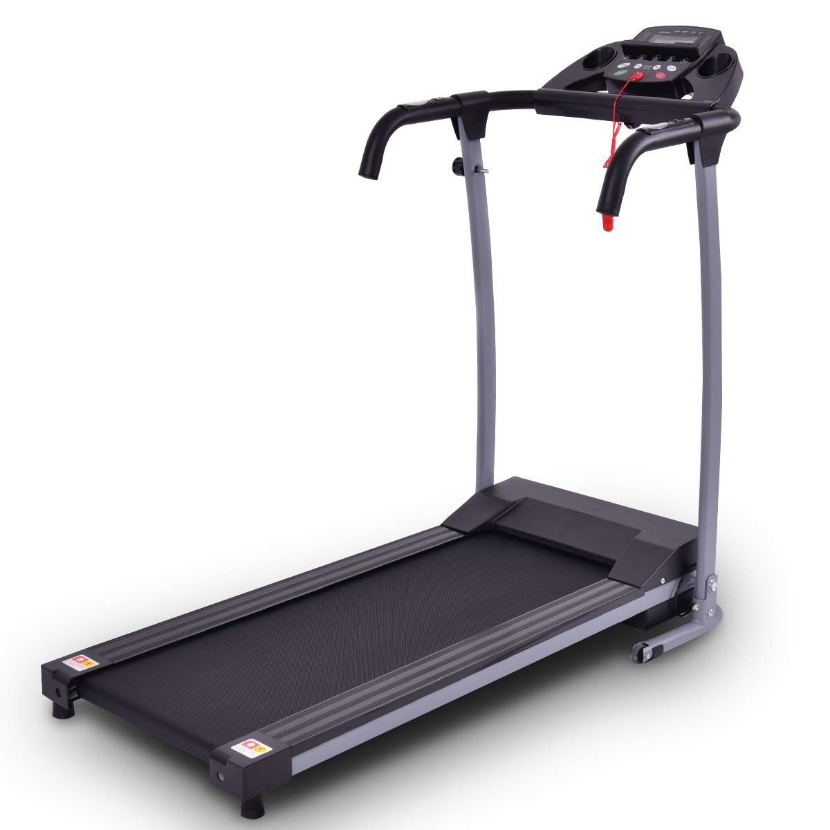 Goplus 800W Folding Treadmill Electric Motorized Power Fitness Running Machine with LED Display and Mobile Phone Holder Perfect for Home Use (Black) by Goplus (Image #1)