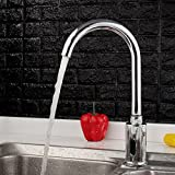 Automatic Touchless Sensor Faucet Motion Activated Kitchen Bathroom Hands Free Tap, Chrome