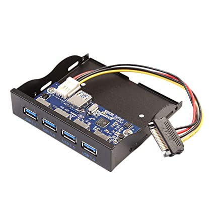 """USB3.0 HUB 4Ports Front Panel to Motherboard 20Pin Connector for 3.5/"""" Floppy Bay"""