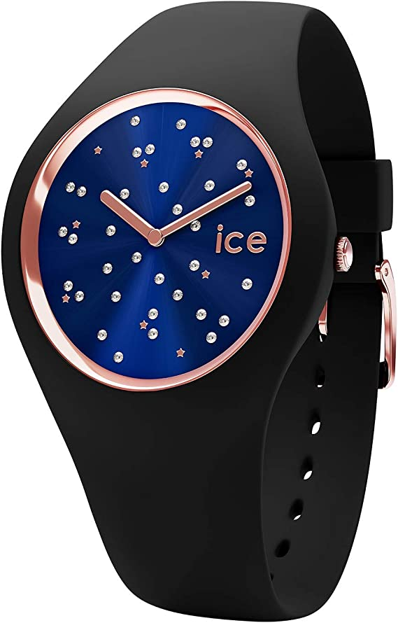 Ice-Watch - ICE cosmos Star Deep blue - Reloj nero para Mujer con Correa de silicona - 016294 (Medium)