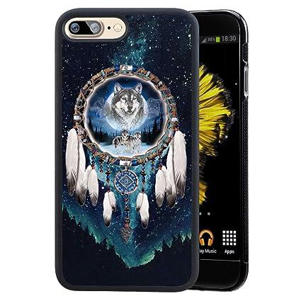 07b3565ee3488 Amazon.com: Ademen iPhone 7 Plus 8 Plus Case, Wolf Dream Catcher ...