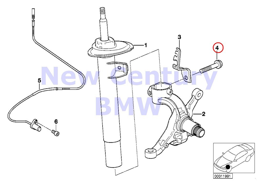 Amazon Com Bmw Genuine Front Axle Suspension Hex Bolt With Washer