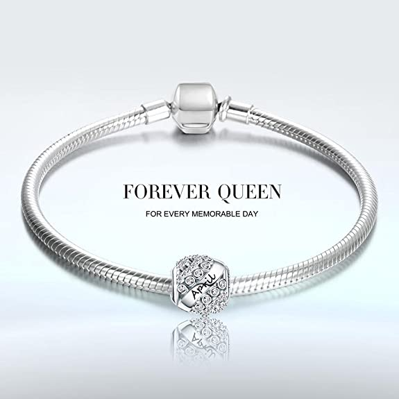Amazon Forever Queen April Birthstone Charms For Pandora Charms