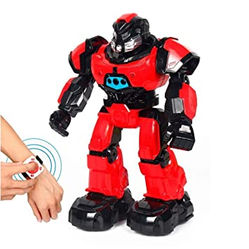 Amazon.com: Red Programmable Smart Remote Control Robot ...