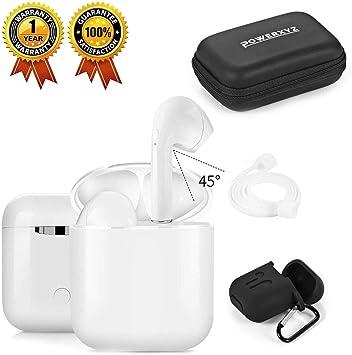 POWERXYZ Ecouteur Bluetooth,Casque sans Fil Mini Oreillettes Bluetooth 5.0 stéréo 3D HD Casque Sport avec Mic avec étui de Chargement Portable (i9s)