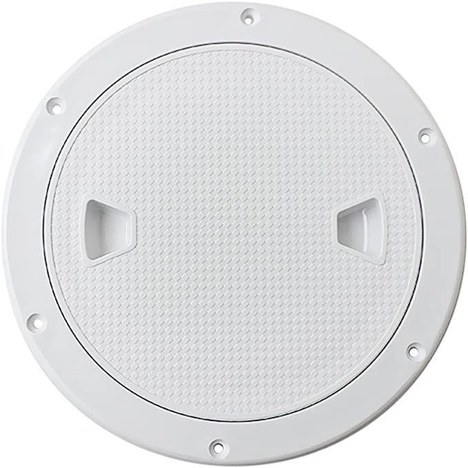 """8/"""" Screw Out Deck Plate Access Hatch Cover White Plastic for Boat Cabin"""