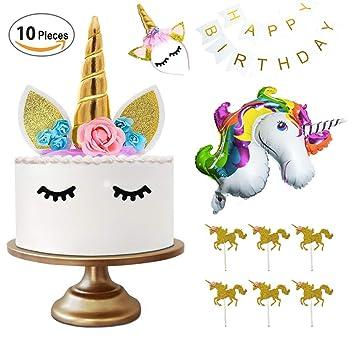 Decoraciones de Fiesta de Unicornio, 1er cumpleaños o ...