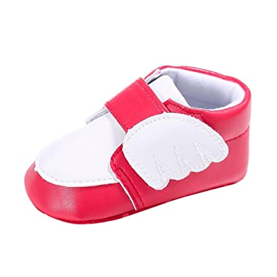 Amiley Newborn Infant Baby Boy Girl Wings Soft PU leather Sole Anti-slip velcro Sneakers