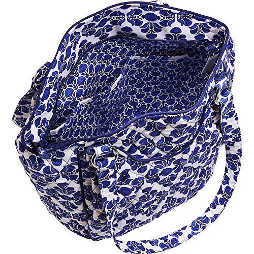 Vera Bradley Shoulder Cotton Signature Bag Cobalt Tile Glenna TAZUHq1T
