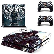 CAN PS4 Console Designer Protective Vinyl Skin Decal Cover for Sony PlayStation 4 & Remote DualShock 4 Wireless Controller Stickers - Assassins Creed