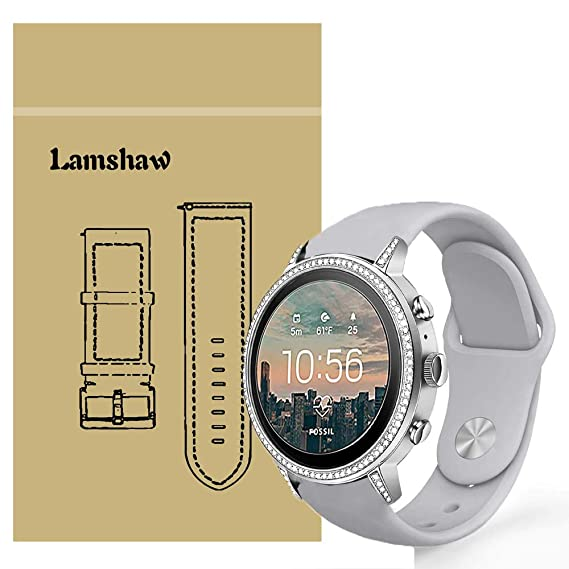 Lamshaw Band Compatible for Fossil Q Venture Gen 4 Bands, Sport Silicone Replacement Strap for Fossil Q Venture Gen 4 / Fossil Q Venture Gen 3 ...