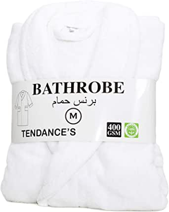 Tendance Cotton Bathrobe - White
