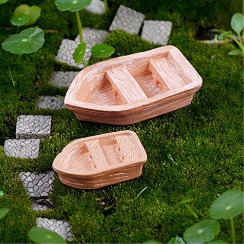 2PC/Set resin craft Retro wood boat model Figure Toys mic...