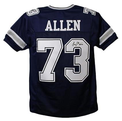 on sale 7f383 cfb95 Larry Allen Autographed/Signed Dallas Cowboys Blue XL Jersey ...