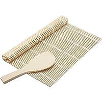 Toruiwa sushi Rolling Mat Pad cucchiaio per riso Bamboo sushi Maker set DIY Tool Kitchen Accessories 24*24cm/14*5cm