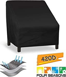 Patio Chair Covers, Lounge Deep Seat Cover, Waterproof and Durable Outdoor Lawn Patio Furniture Covers (97x79x74cm /38x31x29in)