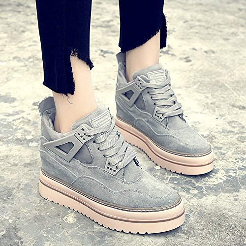 Sneakers Alte Da Donna Con Zeppa Alta - Scarpe Aperte Da Uomo Con Tacco Alto Nascoste E Tacco Alto