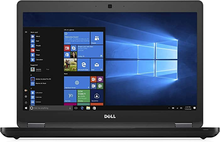Dell Latitude 5480 Business Laptop, 14 Inch FHD Touchscreen, Intel Core 7th Generation i5-7300U, 16GB DDR4, 256GB SSD, Webcam, Bluetooth, Windows 10 Pro (Renewed)