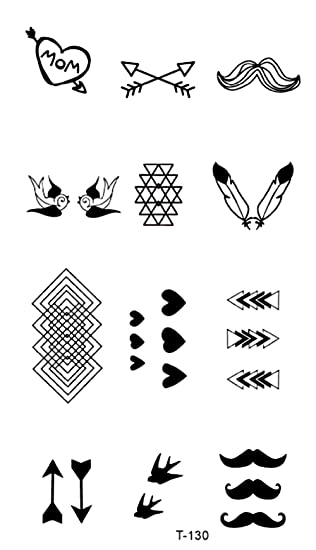 Amazoncom Mini Heart Arrow Temporary Tattoo Body Tattoos