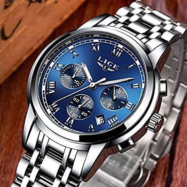 Amazon.com: Relojes de Hombre Cronógrafo De Cuarzo De Moda Para Caballero Movimiento Suizo Caja de Acero Inoxidable 2018 Nueva Colección RE0093: Watches