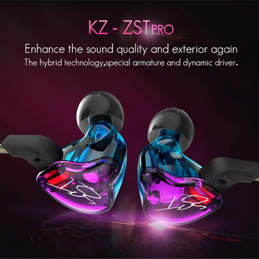 78e413e498f Amazon.com  Easy KZ ZST Colorful Hybrid Banlance Armature with Dynamic  In-ear Earphone 1BA+1DD Hifi Headset (colorful ZST NOMIC)  Home Audio    Theater