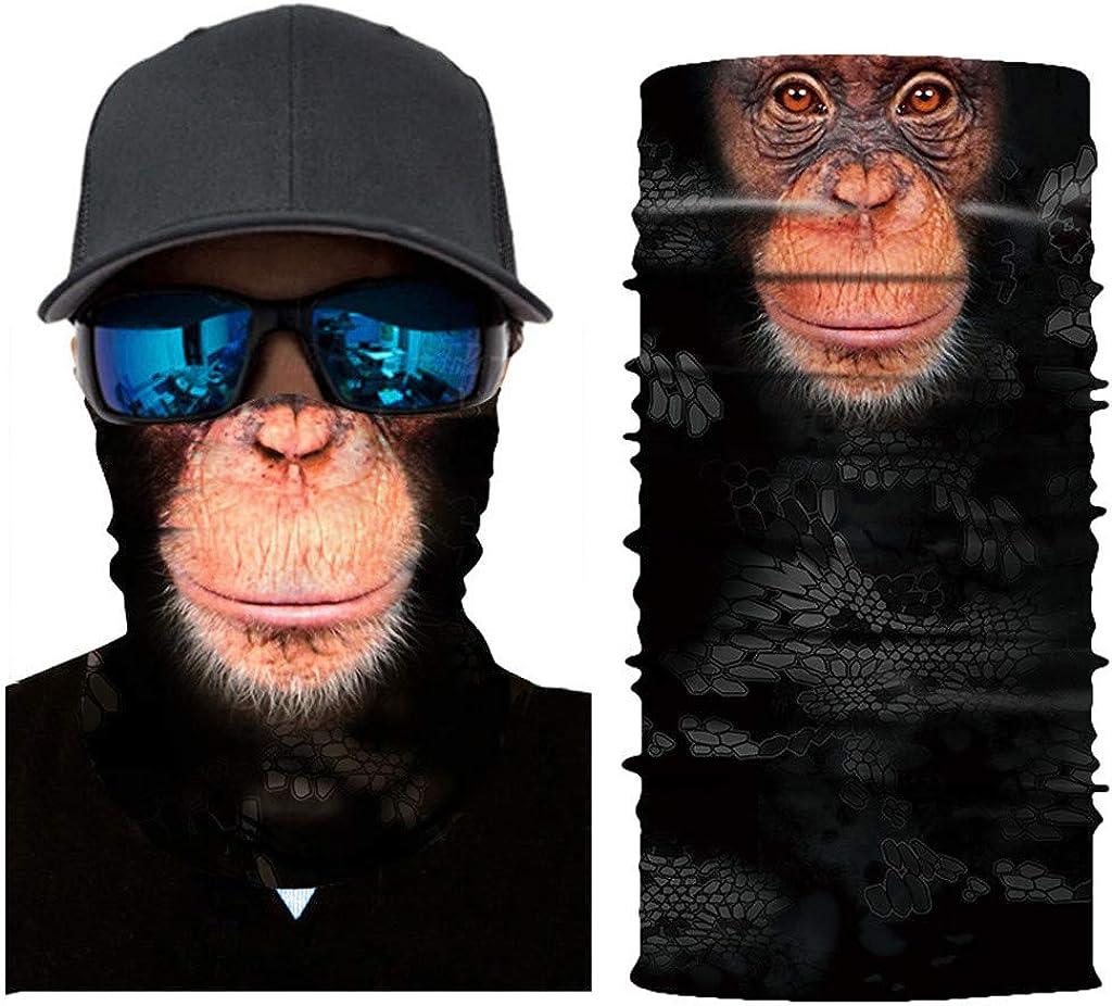 Moneycom Radfahren Motorrad Kopftuch Halsw/ärmer Gesichtsmaske Ski Sturmhaube Stirnband Balaclava UV Schutz Mehrfarbig