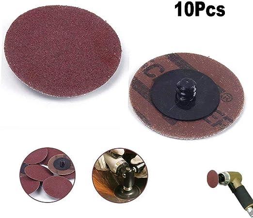 10PCS 2-INCH FLPA DISCS 120 GRIT SANDING GRINDING ROLL LOCK TYPE R