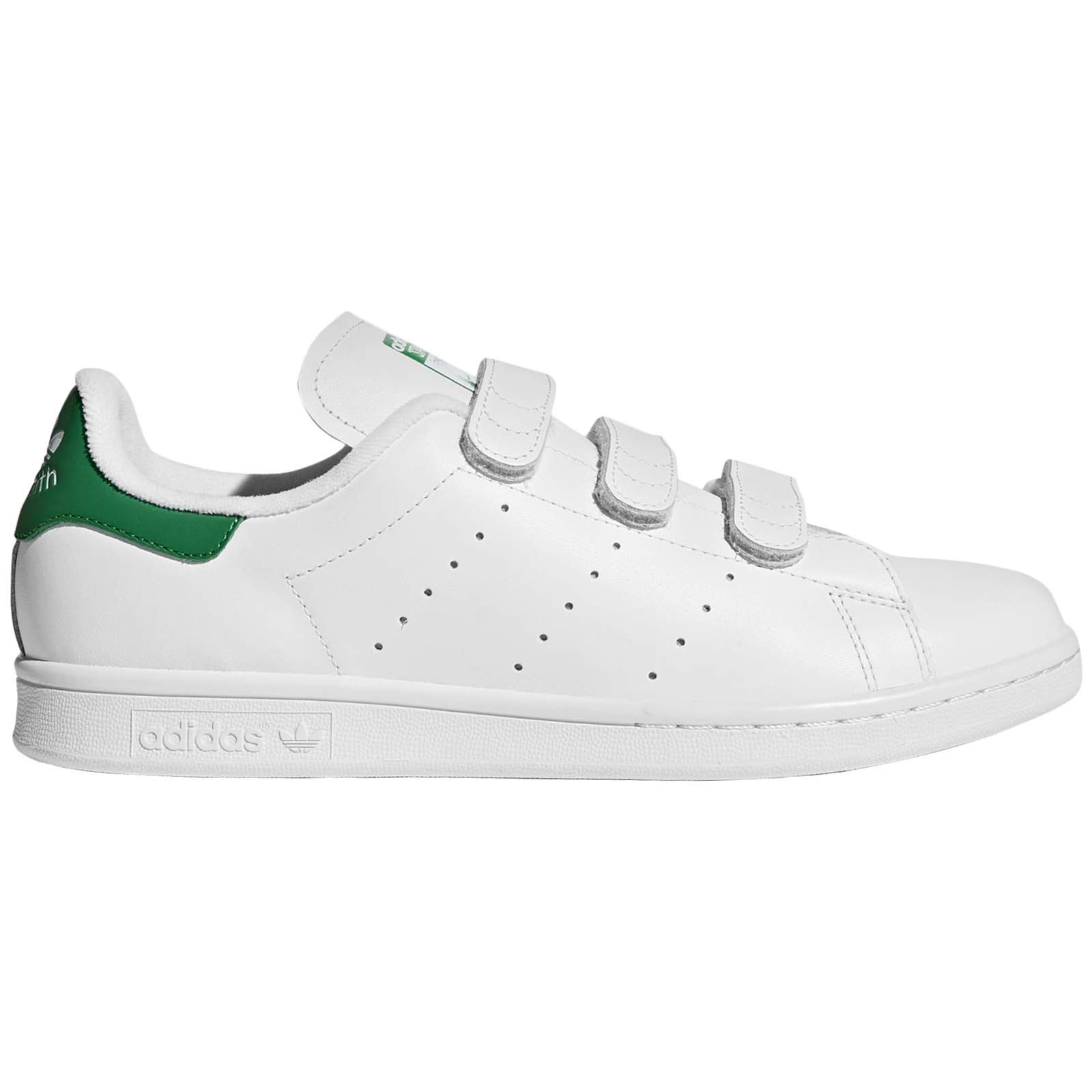 low priced 89a10 e9283 adidas Mens Stan Smith CF Leather Footwear White Green Trainers 11.5 US
