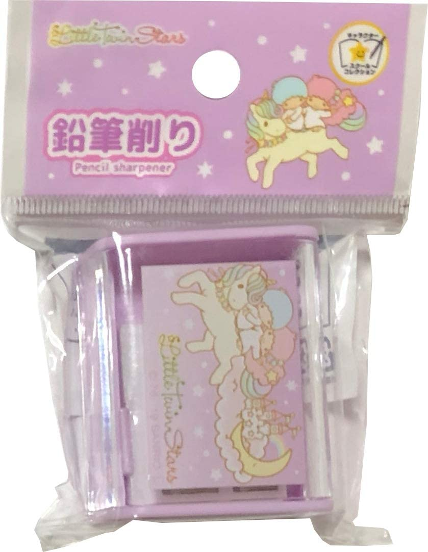 Sanrio Little Twin Stars Pencil sharpener 2 Holes for Standard and Jumbo Pencils Office Stationery (Type-A)