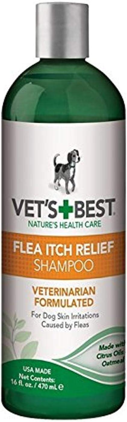 Vets Best Champú para Perros de Alivio de La Picazón de Pulga Tratamiento de pulgas para Perros con aceites Naturales, 470ml: Amazon.es: Productos para mascotas