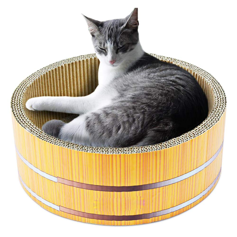 Cosmo's Own Barrel Cat Scratcher | Corrugated Cardboard | Round Shape by Cosmo's Own
