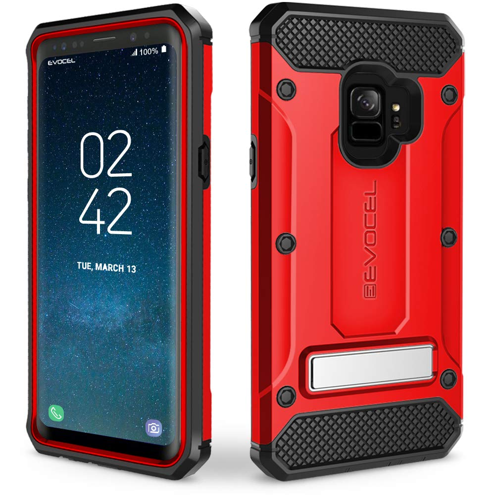 Galaxy S9 Case, Evocel [Explorer Series Pro] with Belt Clip Holster & Metal Kickstand for Samsung Galaxy S9, Blue