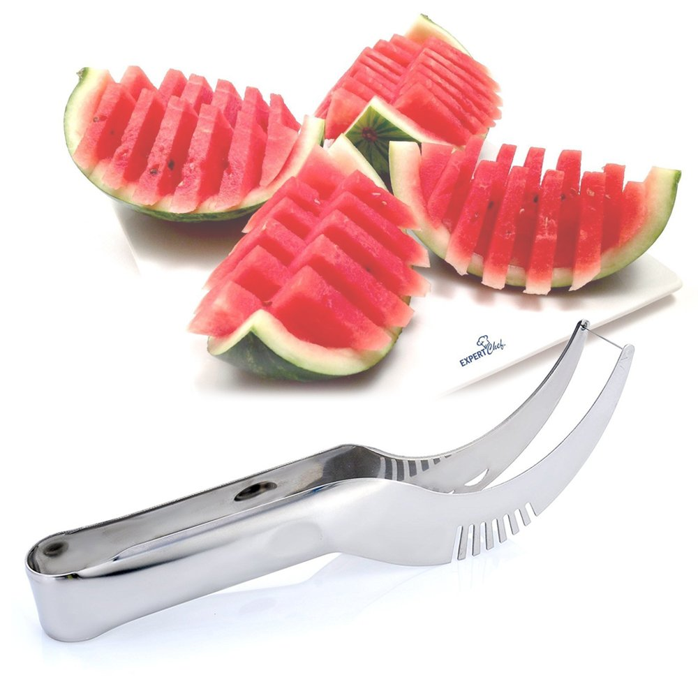 Watermelon Slicer Cutter, DDSKY Stainless Steel Fruit Melon Slicer for Watermelon Dragon Fruit Perfect Gift for Melon Lover (1)
