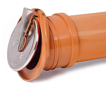 Rückstauklappe Froschklappe ø 110 Mm Orange Auslaufstück Ht Kg