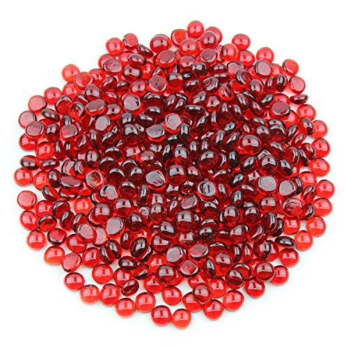 Gemnique Mini Glass Gems - Red (48