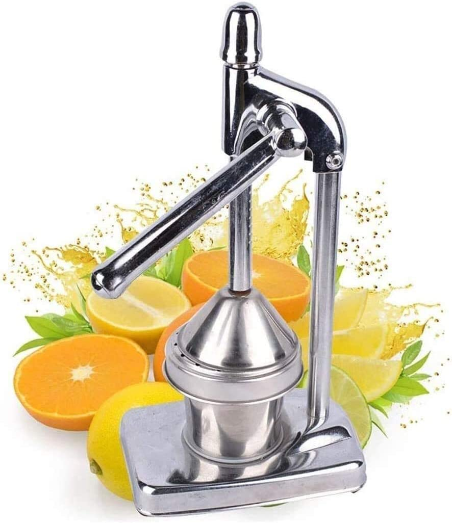 Stainless Steel Manual Juicer Uses Fruit Juicer/Orange/Pomegranate/Lemon Professional Juicer Stick Blenders For Restaurant Home Anti-Corrosion, Easy To Clean, Sturdy And Durable