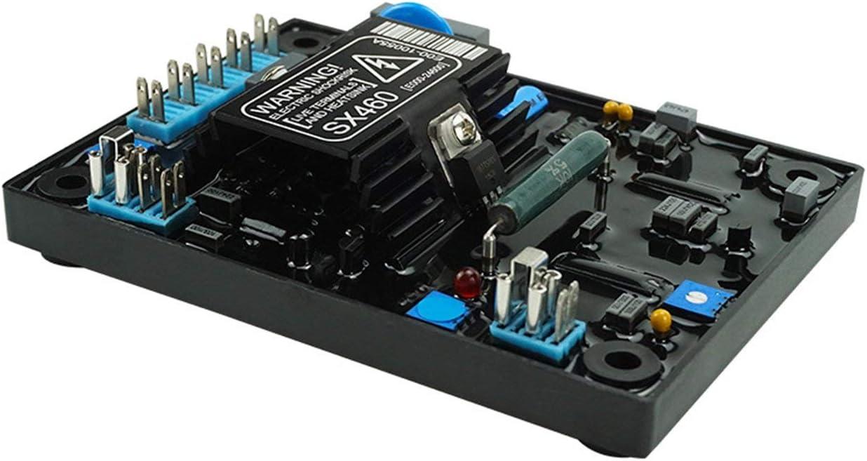G/én/érateur SX460 Module de contr/ôle du r/égulateur de Tension Automatique AVR Alternateur Diesel Carte de stabilisation de la Tension de Partie de lalternateur FRjasnyfall Noir
