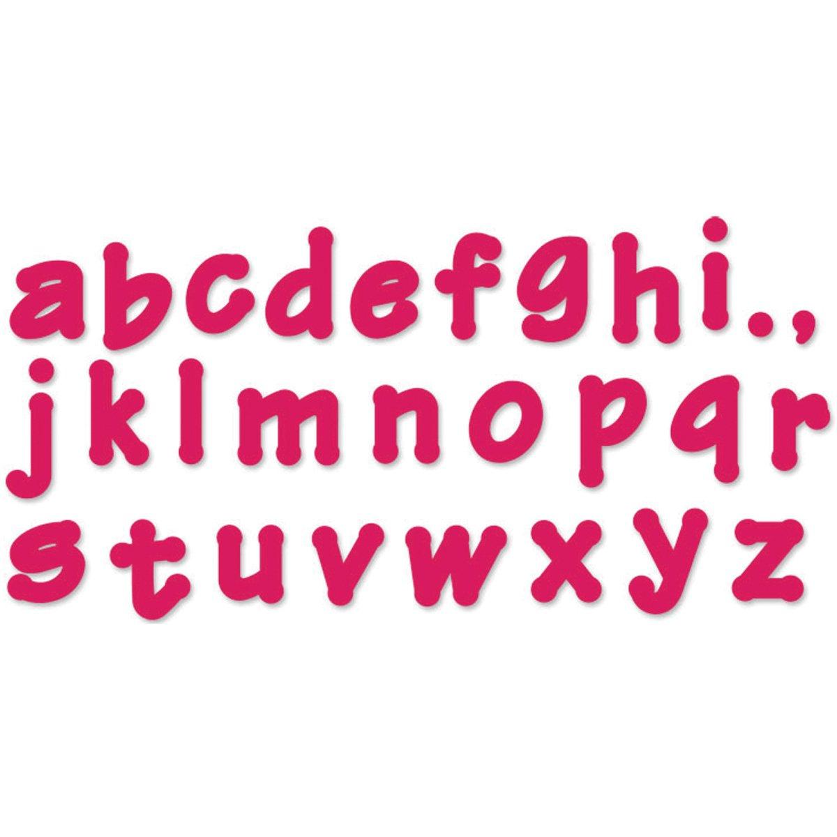 Sizzix 657893 Lollipop Shadow Lowercase Alphabet Bigz Dies Series 2