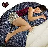 Coozly Premium Navy Floral Pregnancy U Pillow With Fine Pregnocare Fibres Fine Cotton Covers U-34