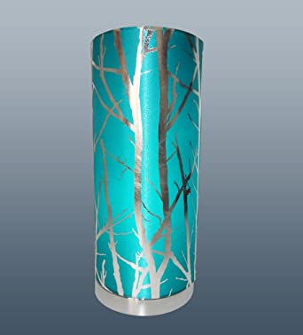 Tree pad teal table lamp amazon lighting mozeypictures Gallery