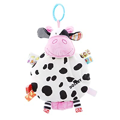 LALANG Baby Crib Stroller Car Hanging Toy Soft Animal Shake Rattles Educational Toys(Cow): Toys & Games [5Bkhe1206136]