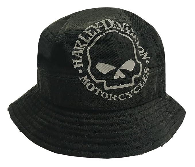 fe69f9504d6 Amazon.com  Harley-Davidson Men s Bucket Hat
