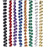USToy Lot of 12 Assorted Metallic Beaded Mardi Gras Necklaces Costume