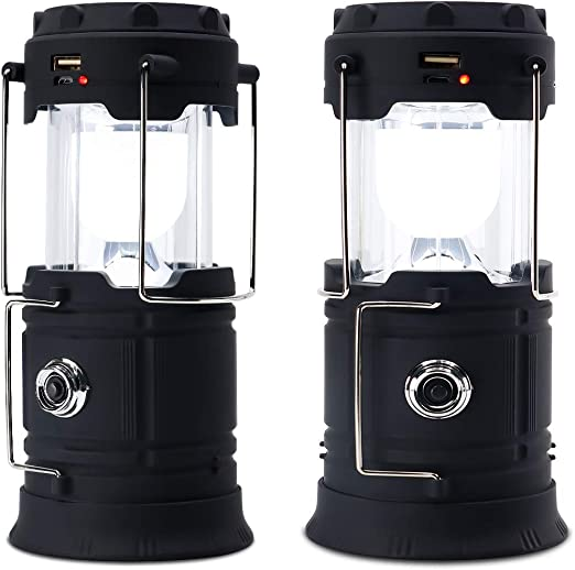 USB Rechargeable Camping Lantern Solar Power LED Flashlight ShadowBLASTER
