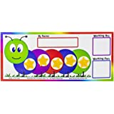 "Kenson Kids ""I Can Do It!"" Caterpillar Token Board – Perfect for Ages 3-10"