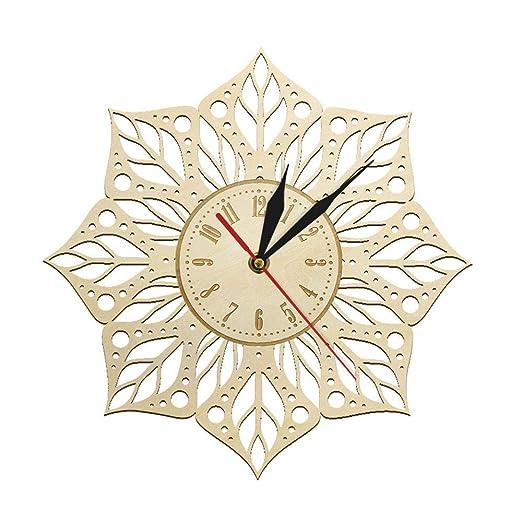 pianaiBB Reloj De Pared De Madera Grabado Mandala Yoga ...