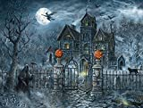 SunsOut Uninvited Guest Halloween 500 pc Jigsaw Puzzle Halloween Pumpkin Trick or Treat