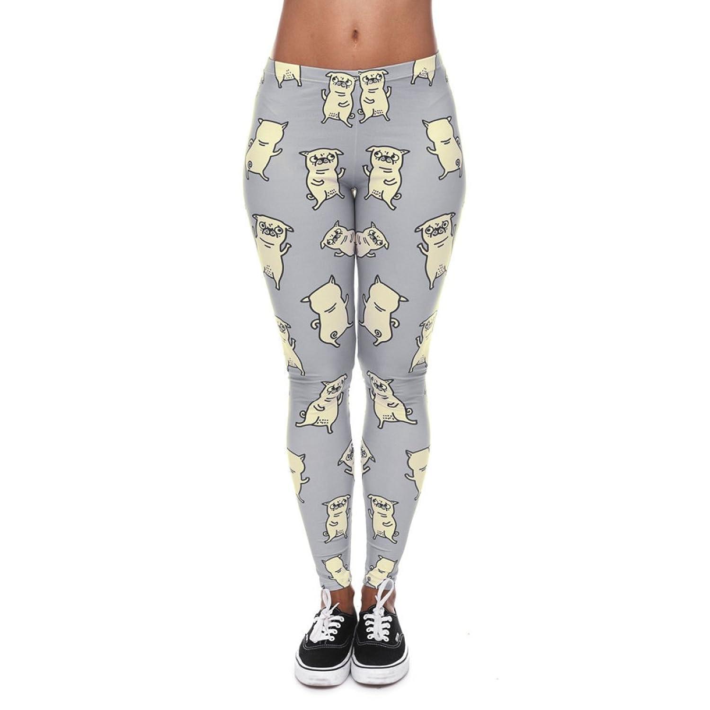 well-wreapped Mujeres Nuevo Diseño Funky Digital Impreso Leggings Stretchy  Yoga Leggings Ejercicio Fitness Gimnasio